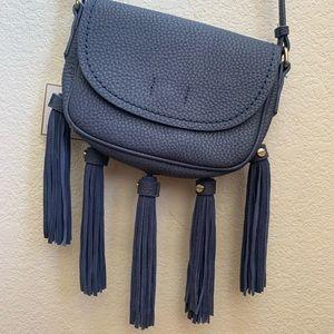 Blue tassel fringe purse brand new w tags
